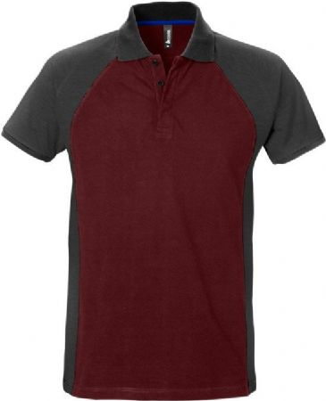 Fristads Acode Polo Shirt 7650 PIQ (Wine Red/Grey)